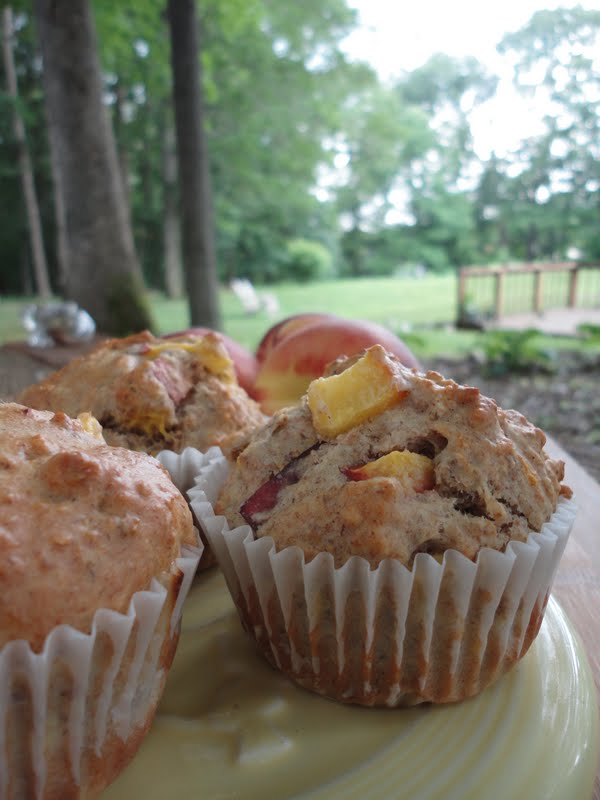 Morning Glory Peach Muffins Recipe - Perfect for breakfast on the go or a light afternoon snack.