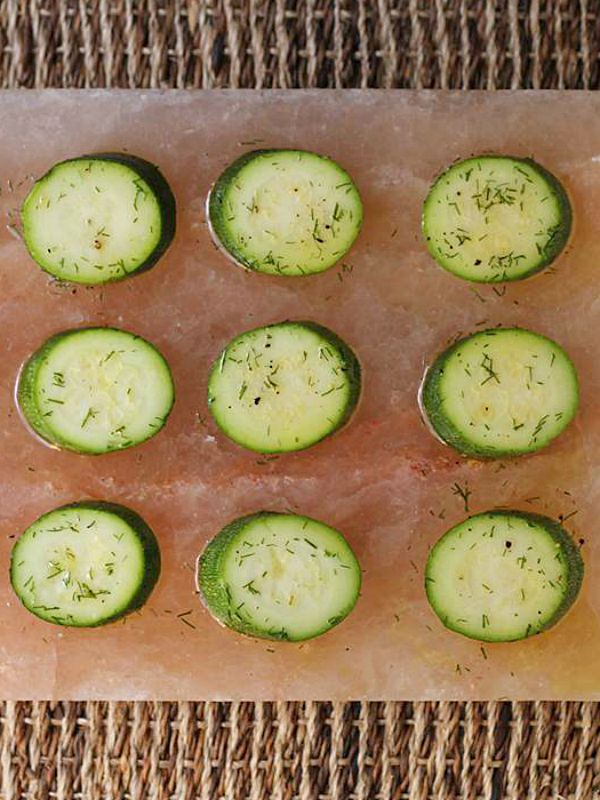 Salt Block Pickled Zucchini from @cookistry - One of the healthy summer squash recipes being featured on Basilmomma.com