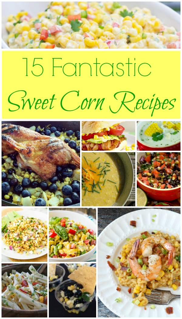 15 Fantastic Fresh Sweet Corn Recipes - Summer just wouldn't be the same without fresh sweet corn! See the recipes on Basilmomma.com