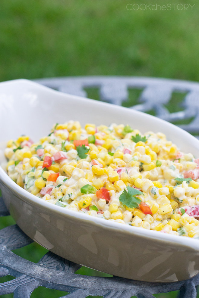 Sweet 'n Spicy Creamy Sweet Corn Salad Recipe