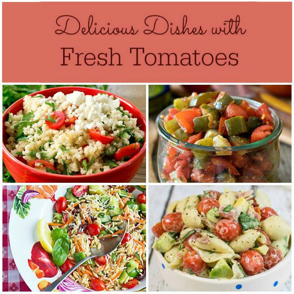 Tasty recipes that use garden tomatoes - This collection of recipes can be seen on basilmomma.com