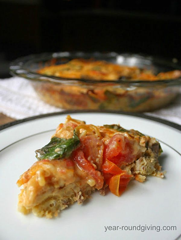 Leftover Spaghetti Frittata - One of the fun ways to serve spaghetti!