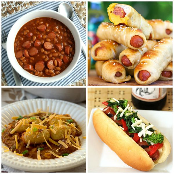 10 Delicious Ways to Dress Up A Hot Dog - from chili dogs to frank and beans, there are 10 recipes with hot dogs in this collection on basilmomma.com