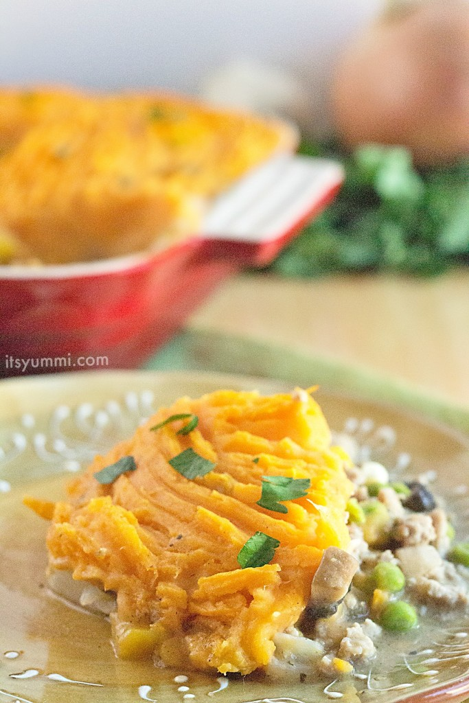 This sweet potato shepherd's pie from @itsyummi is perfect for using ...