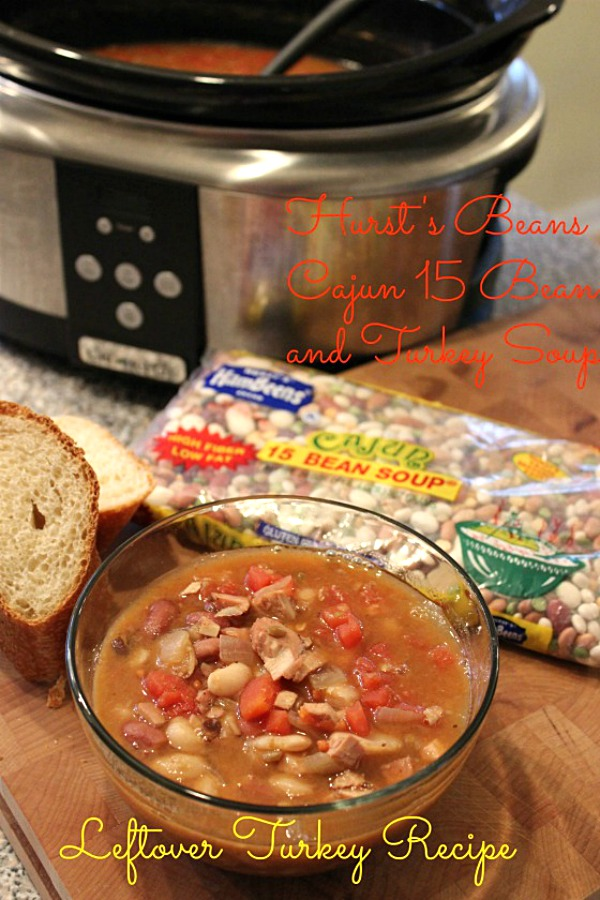 Recipes using Thanksgiving leftovers don't get more delicious than this Cajun 15 Bean Turkey Soup from @basilmomma