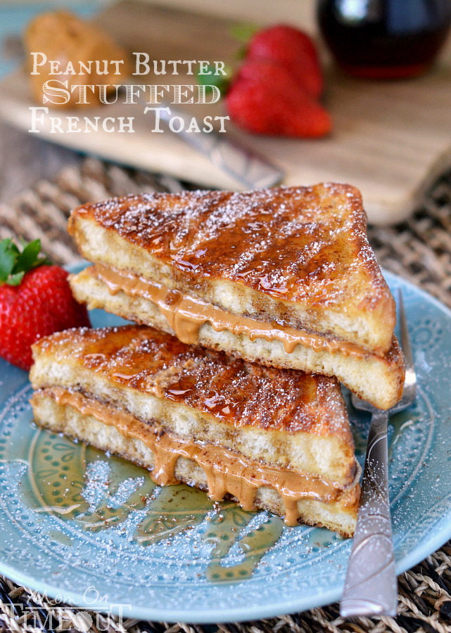 Just in time for peanut butter lovers month comes this peanut butter stuffed French toast recipe from Mom on Timeout