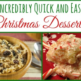 11 Incredibly Easy Christmas Dessert Recipes