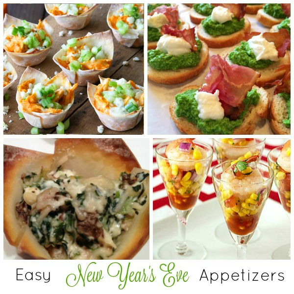 Easy New Year's Eve Appetizers Recipes Collection on basilmomma.com