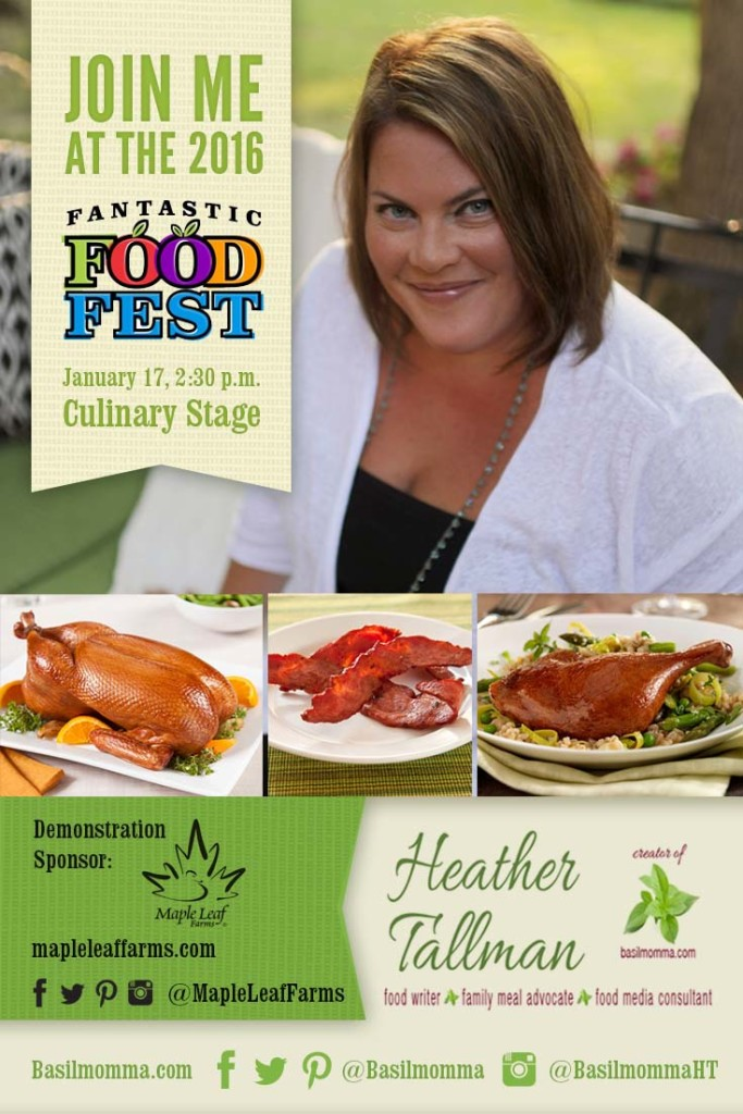 Fantastic Food Fest Maple Leaf Duck Cooking Demonstration Sunday, January 17 at 2:30 pm