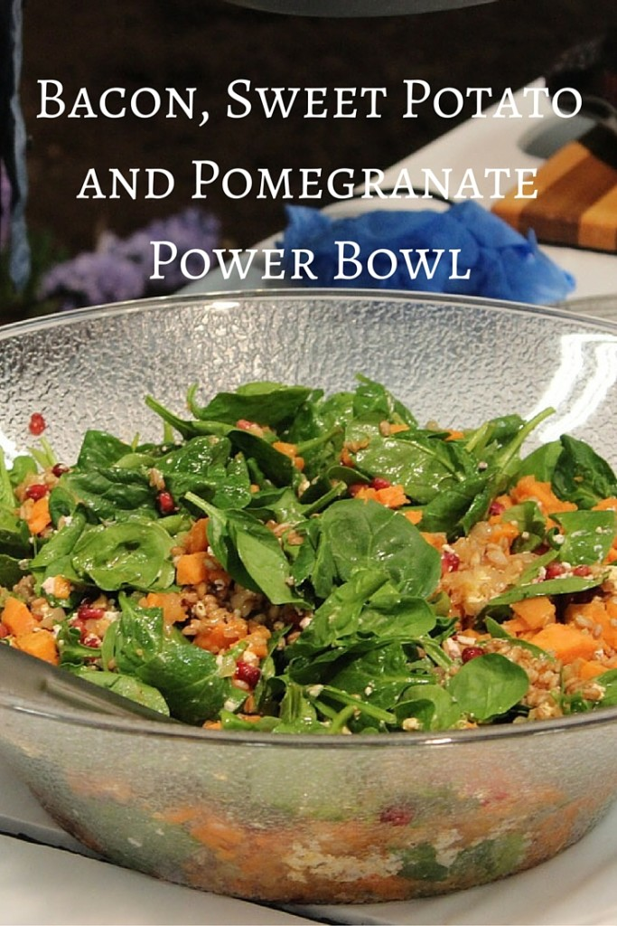 Bacon, Sweet Potato and Pomegranate Power Bowl