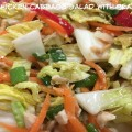 Chinese Chicken Cabbage Salad with Peanut Sauce