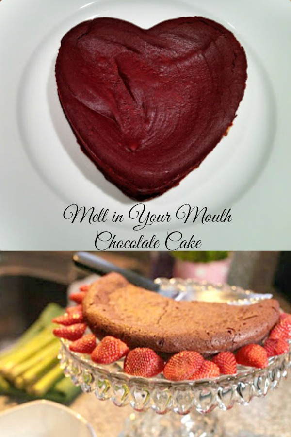 This sweet recipe for Valentine's Day is a melt in your mouth chocolate cake!