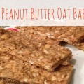 No-Bake Peanut Butter Oat Bars Recipe from @Basilmomma