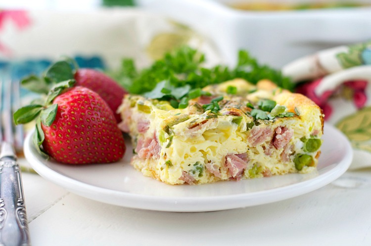 Spring's Finest Baked Omelet - Just one in a collection of recipes using Spring vegetables on basilmomma.com