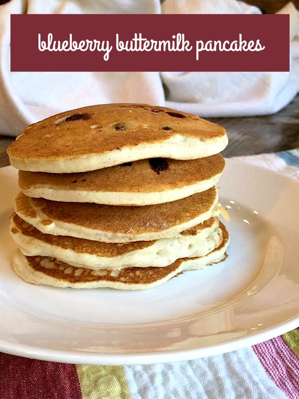 Easy Blueberry Buttermilk Pancakes Recipe - Get it on basilmomma.com