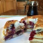 Easy Blueberry Buttermilk Pancakes Recipe - Get it on basilmomma.com