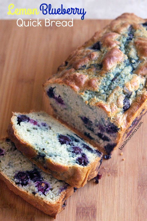 Lemon Blueberry Quick Bread Recipe | Quick, easy, and made in one bowl! Get the recipe on basilmomma.com