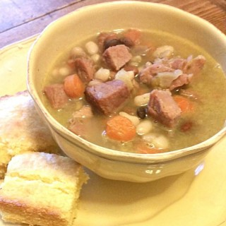 Slow Cooker Ham Soup with Hurst Beans {Guest Post}