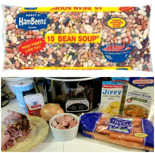 Slow Cooker Ham Soup with Hurst Beans \\ A guest recipe post from Fortville Mama on basilmomma.com