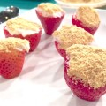 Cheesecake Stuffed Strawberries - a quick and easy no-bake dessert from basilmomma.com