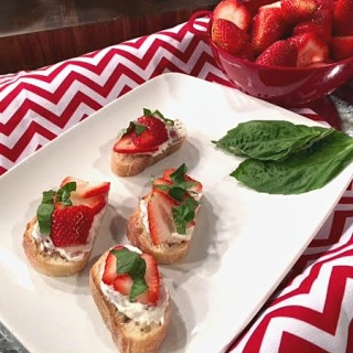 Strawberry Crostini Appetizer