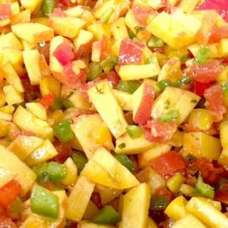 Fresh Peach Salsa {Summer Salsa Series}