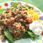 Taco Rice Skillet Dinner - basilmomma.com
