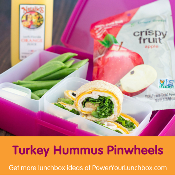 Turkey Hummus Pinwheels - One of the healthy kid-friendly recipes you can get from @basilmomma on basilmomma.com