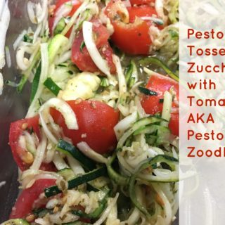 Pesto Tossed Zucchini with Tomatoes