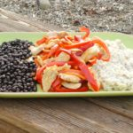 Sauteed Chicken, Black Beans, and Coconut Rice - A quick and easy family friendly dinner that's made in just 40 minutes! Get the recipe on basilmomma.com