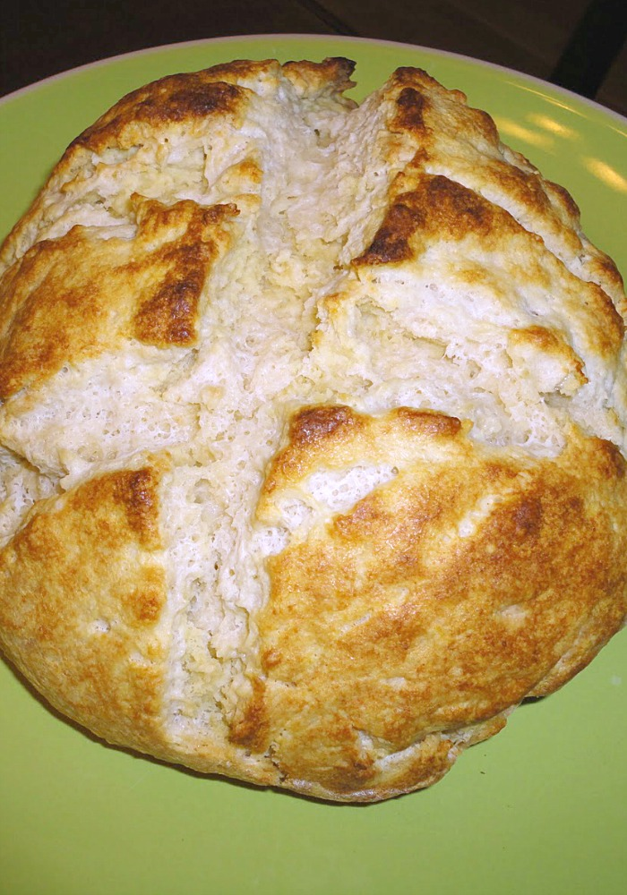 Traditional Irish Soda Bread - A quick bread recipe that's perfect for St. Patrick's Day. Recipe on basilmomma.com