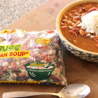 Leftover Turkey Cajun 15 Bean Soup {Slow Cooker Recipe}