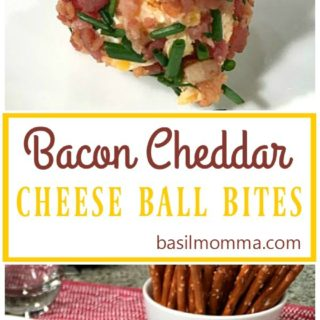 Bacon Cheddar Cheese Ball Bites