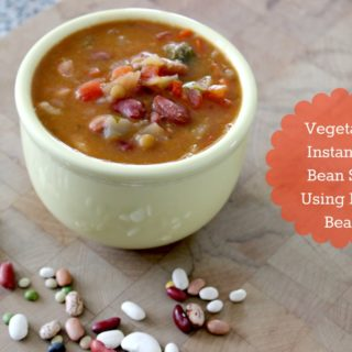 Vegetarian Instant Pot Bean Soup Using Dried Beans