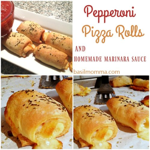Pepperoni Pizza Rolls - Hand held pizza roll-ups, filled with pepperoni and lots of mozzarella cheese. Easy to customize with your favorite pizza toppings! | basilmomma.com