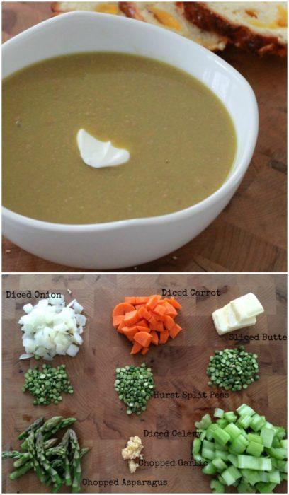 Split Pea Asparagus Soup | basilmomma.com