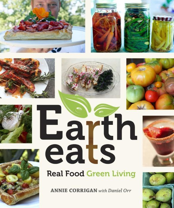 Learn about the The Earth Eats: Real Food, Green Living Cookbook, written by Annie Corrigan and Chef Daniel Orr, and enter to win a copy of the book on basilmomma.com