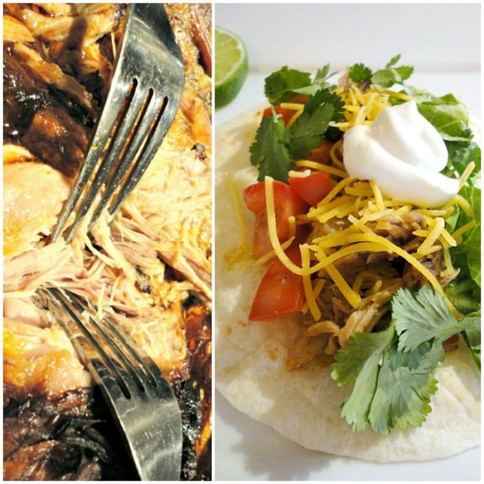 Dr. Pepper pulled pork tacos are a hearty, flavorful meal, sure to please sports fans on game day, or to feed a crowd on Memorial Day! | Basilmomma.com