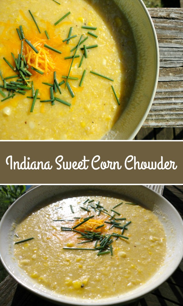 Lightened Up Indiana Sweet Corn Chowder - lower in fat and calories than creamy corn chowder, but just as delicious, thanks to pureed corn! | basilmomma.com