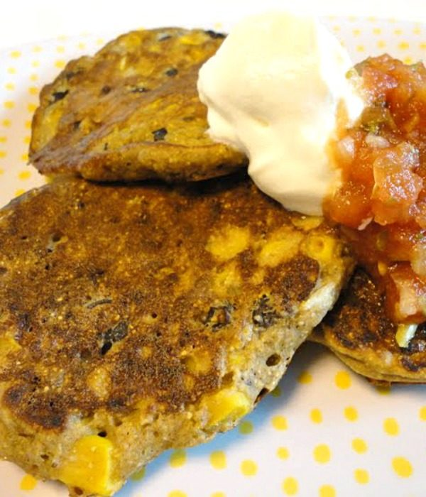 Mexican Style Black Bean Corn Fritters   easy side dish recipe or meatless main dish   Basilmomma