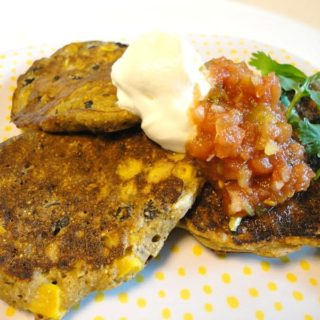 Mexican Style Black Bean Corn Fritters