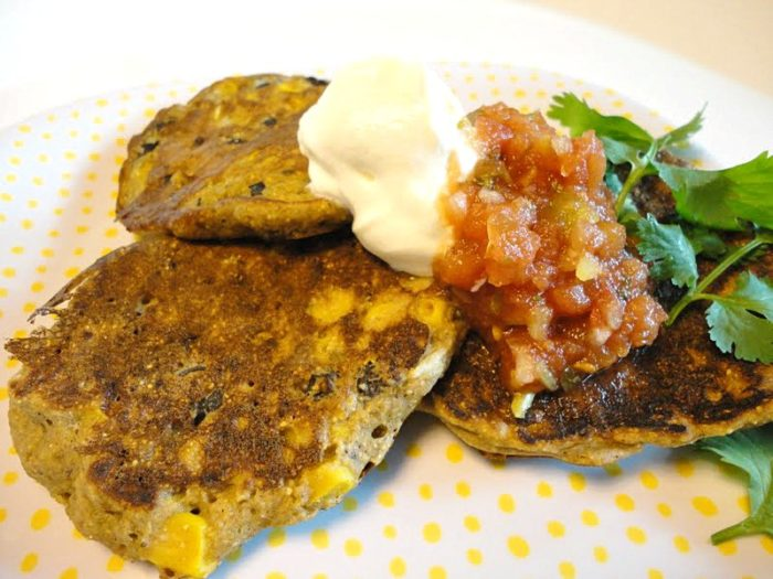 Black bean corn fritters are Mexican spiced griddle cakes, perfect for serving as an easy side dish or as a vegetarian main dish.   Basilmomma