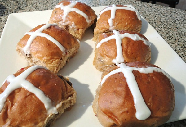 Hot Cross Buns from an Indiana bakery