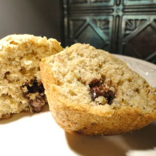 Chocolate Stuffed Banana Muffins
