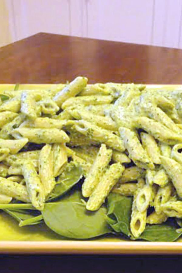 Spinach Goat Cheese Pasta Is An Easy Weeknight Dinner Recipe Tender Penne Tossed