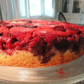 Berry Upside Down Cornmeal Cake