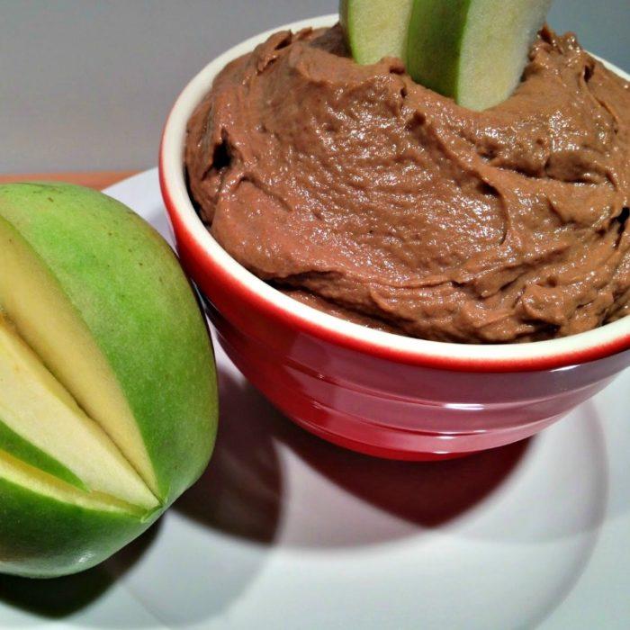4 ingredient healthier chocolate peanut butter dip