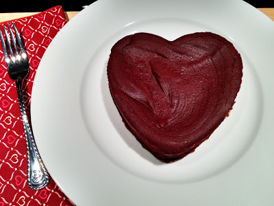 Chocolate Heart Cake for Valentine's Day - Get the recipe from basilmomma.com