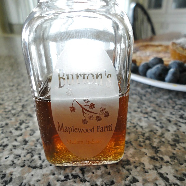 Burton's Maplewood Farm Syrup - made in Indiana