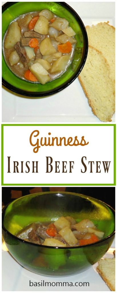 Guinness Beef Stew - a comfort food meal that's perfect for St. Patrick's Day. Recipe from @basilmomma